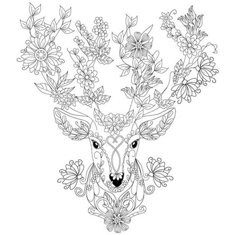 Deer Coloring Page For Adults | deer coloring page design ms zentangles adult
