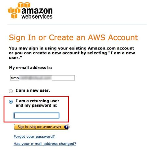 aws console sign in how to register for affiliate and product