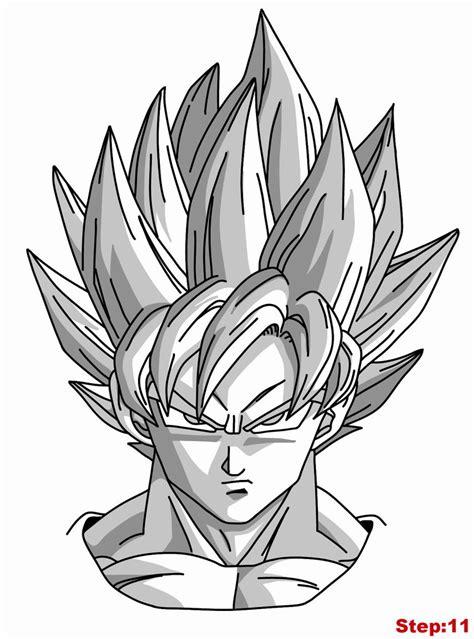 Drawing Goku by Drawing Goku Saiyan From Z Tutorial Step