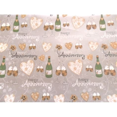 gift wrap paper happy anniversary generic or 25th 50th