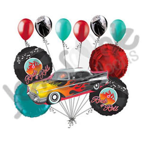 Balon Happy Birthday Car 11 pc rock n roll vehicle happy birthday balloon
