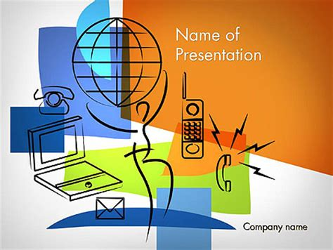 global information technology powerpoint template