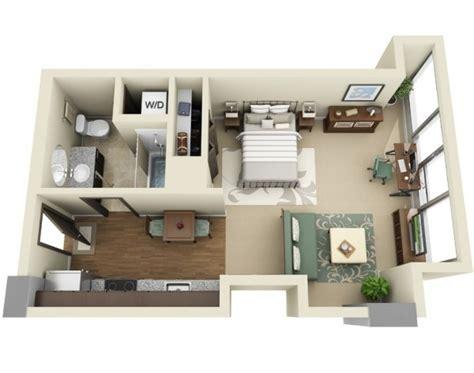 one bedroom efficiency apartment studio apartment floor plans