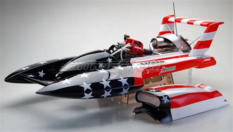 offshore rc gas boats exceed racing gs260 fiberglass stars stripes 26cc gas