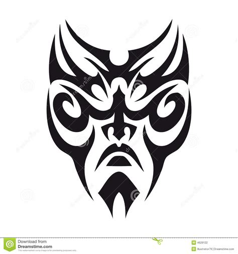 tribal face tattoo stock illustration image of