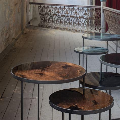 nesting side table set buy notre monde nesting side table set bronze amara