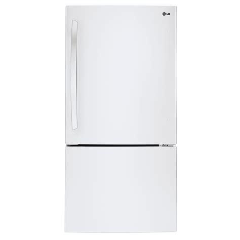 refrigerator with bottom freezer swing door lg lbc24360sw 24 cu ft bottom freezer refrigerator w swing door white shop your way
