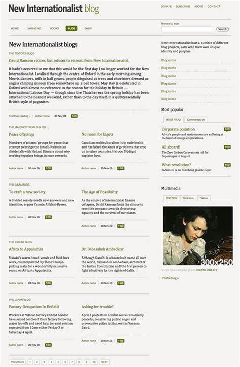 layout blog entry designing new internationalist blog pages stuff
