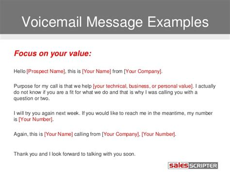 voicemail template how to deal with voicemail when prospecting