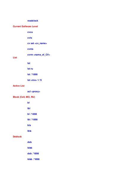 224698998 moshell commands