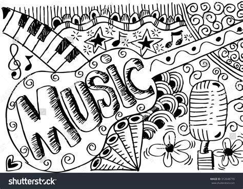 doodle de do song doodle arkivvektorillustrasjon 312648770