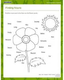 finding nouns free 1st grade grammar worksheet for kids