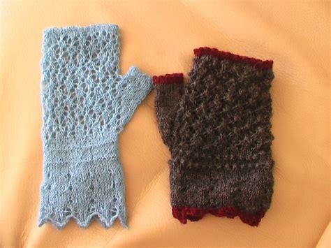 knitting gloves in the sock yarn knitted gloves gloves