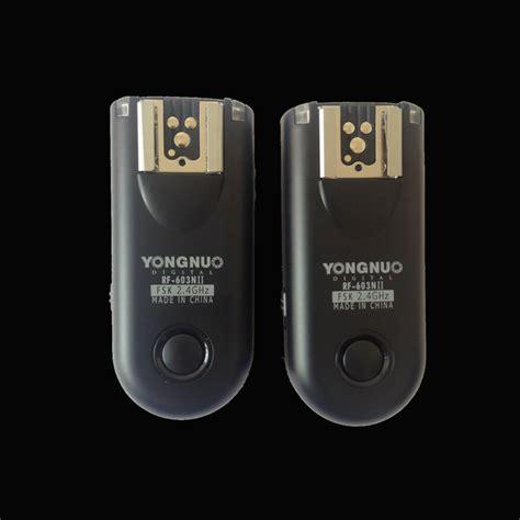 Yongnuo Rf 603 yongnuo rf 603 ii rf603 ii wireless flash trigger remote n3 eachshot