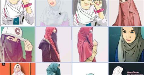 update wallpaper gambar kartun muslimah cantik  lucu