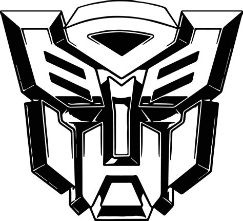 transformers logo coloring pages transformers autobot robot coloring page wecoloringpage