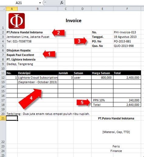 9 contoh invoice faktur tagihan pembayaran penjualan