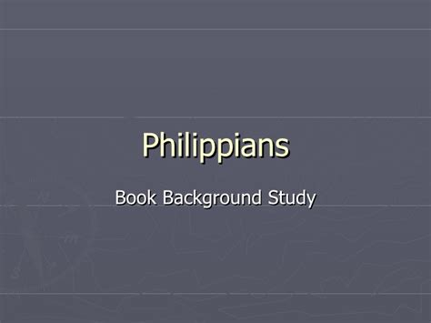 attitude a study in philippians books philippians book background
