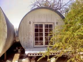Large corrugated metal pipes converted into small dwellings in ajo