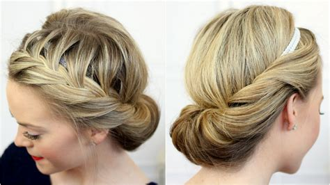 tuck in hairstyles tuck and cover french braid youtube