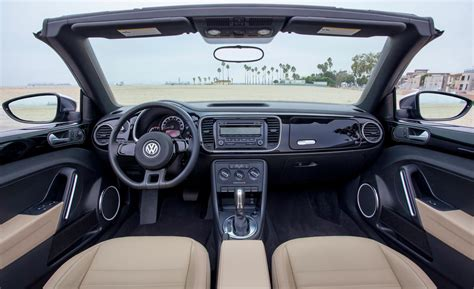 volkswagen beetle convertible interior car and driver