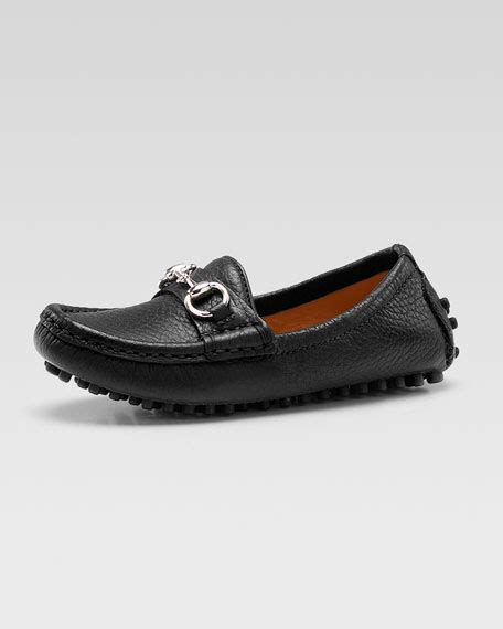 gucci damo driving loafer gucci damo leather driving loafer black youth