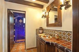 Mexican Tile Bathroom Designs by Talavera Tile For Mexican Bathroom Design Within Mexican