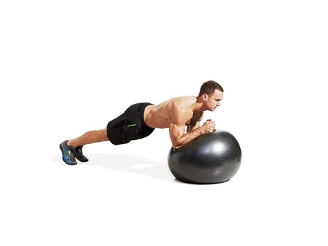 swiss ball plank circle video  proper form  tips  muscle fitness