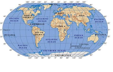 world map image oceans world map the continents and the oceans of the world