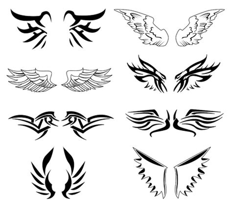 tribal wings tattoos tribal wings design