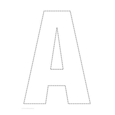 printable alphabet a4 size outline capital a