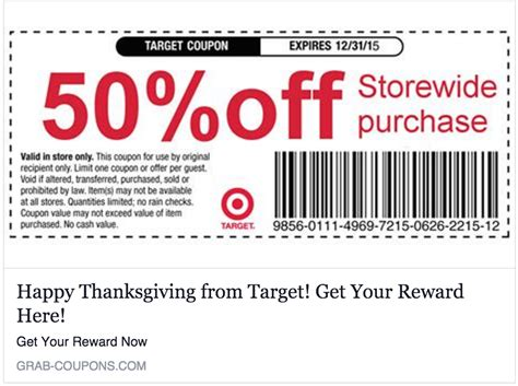 no target is not giving you a 50 everything coupon