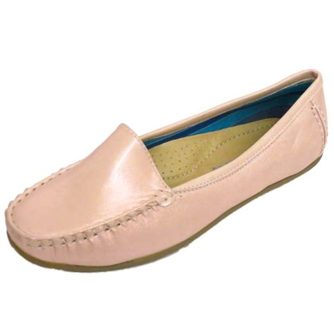 comfort shoes womens ladies pink pearl slip on loafers womens comfort casual