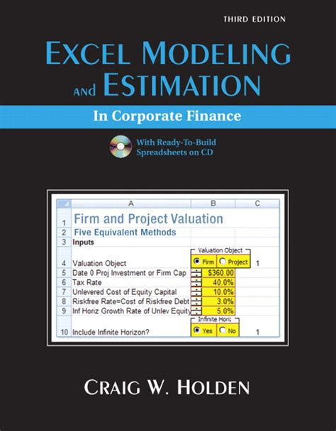 Mba Excel Model by Holden Excel Modeling And Estimation In Corporate Finance