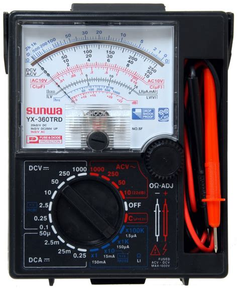 sunwa yx360 trd 7 function 16 range analog multimeter with