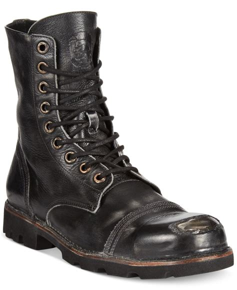 diesel boot diesel hardkor steel toe boots in black for lyst