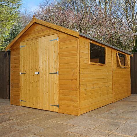 shedswarehouse oxford workshops 12ft x 8ft deluxe workshop with doors 2 windows