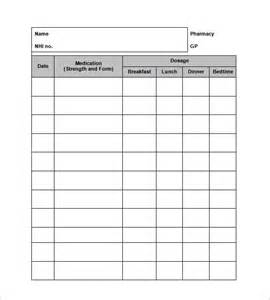 blank medication list templates medication card template 13 free printable sle