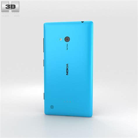 Nokia Lumia Cyan nokia lumia 720 cyan 3d model humster3d