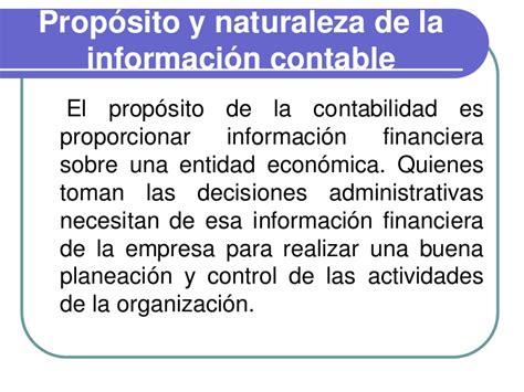 a propsito de las proposito de la contabilidad la contabilidad