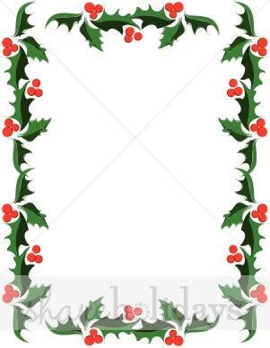 clip art borders christmas holly clipground
