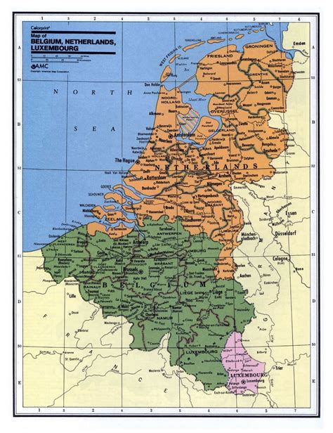 detailed political  administrative map  belgium