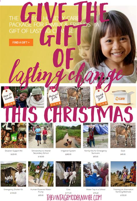 give the gift of lasting change this christmas