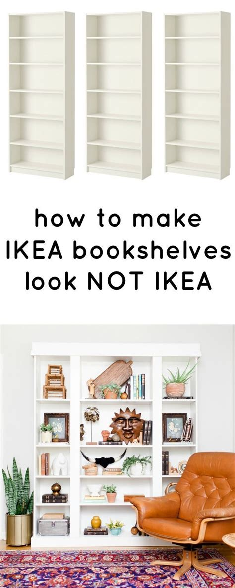 How To Make Bookcases Look Built In How To Make Ikea Bookcases Look Not Ikea Love This Ikea Hack