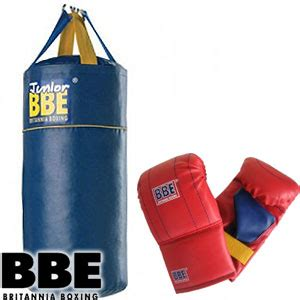 buy bbe junior boxing punch bag and gloves at home bargains