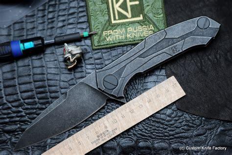 designer knife t90 knife alexey konygin design m390 titanium bearings