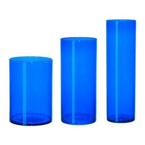 Blue Cylinder Vase by Inspirations Decorations Branching Out