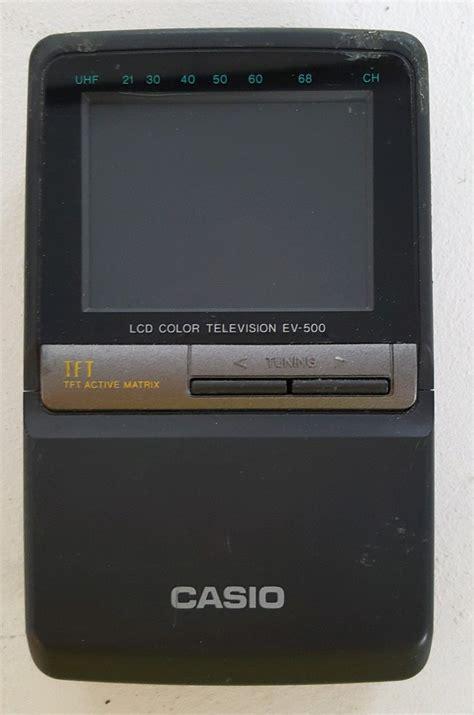 Casio Mini Tv casio lcd color television retro handheld mini tv ev