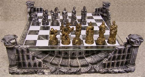 glass chess boards chess set with glass board themed polyresin platform