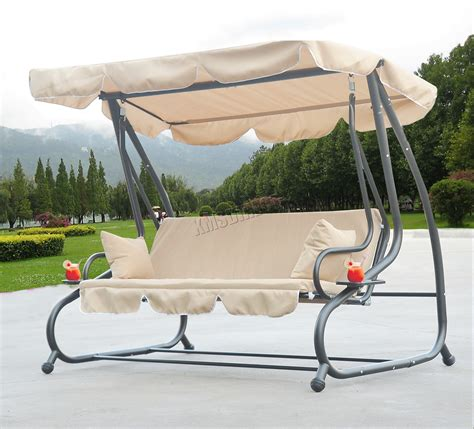garden hammock swing foxhunter fhsc05 garden swing hammock 3 seater chair bench